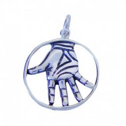 Amuleto Plata Mano Poderosa...