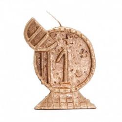 CANDELA EURO 13 cm (Dorado)